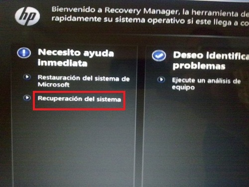 restaurar laptop hp sin discos